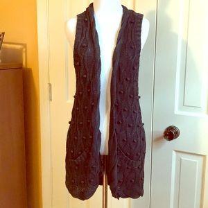 Nine West Vintage American Boho Knit Sweater Vest